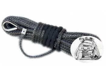Трос для лебедки синтетический 10мм*28 метров (серый)