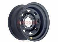 Диск колесный стальной УАЗ R15 5x139.7 8x15 ET-19 А17 (черный матовый) OFF-ROAD Wheels